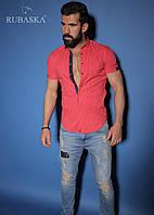 Качественная розовая мужская рубашка