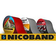 Лента самоклеющаяся Nicoband коричневая 10см х 3м