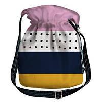 Сумка женская торба в полоску