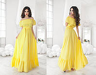 Летнее платье макси 11- 1056