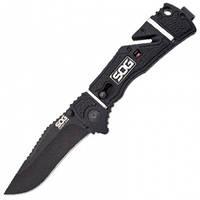 Нож складной SOG Trident Elite Black TiNi (длина: 210мм, лезвие: 92мм)