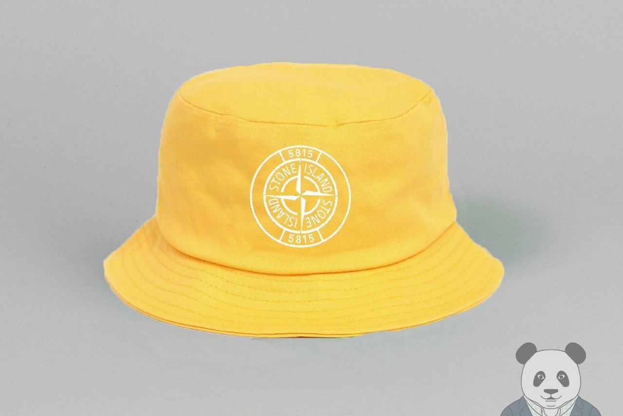 Панамка Stone Island желтая (люкс копия)