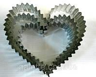 Вырубки для печенья сердце метал 3шт.(код 02747)