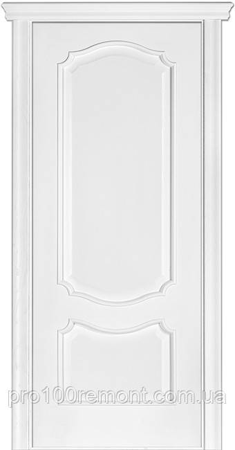 Двері Terminus Caro модель №41 ПГ/З (ясен білий Емаль, ясен Crema)