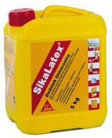 SikaLatex - жидкая добавка для мелкозернистых смесей и бетона на цементной основе, 5кг