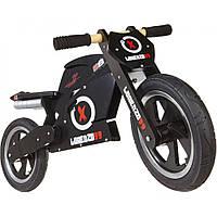 """12"""" Kiddi Moto Heroes деревянный, с автографом Jorge Lorenzo, чёрный, Беговел, велосипед без педалей"""