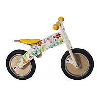 "12"" Kiddi Moto Kurve деревянный, бабочки, Беговел, велосипед без педалей"