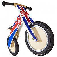 "12"" Kiddi Moto Kurve деревянный, британский флаг, Беговел, велосипед без педалей"