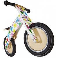 """12"""" Kiddi Moto Kurve деревянный, цветные кляксы, Беговел, велосипед без педалей"""