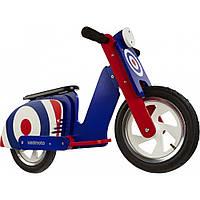 "12"" Kiddi Moto Scooter деревянный, синяя мишень Артикул: SKD-07-71, Беговел, велосипед без педалей"