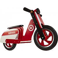 """12"""" Kiddi Moto Scooter деревянный, красно-белый, Беговел, велосипед без педалей"""