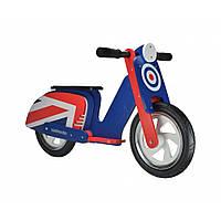"""12"""" Kiddi Moto Scooter деревянный, синяя мишень, Беговел, велосипед без педалей"""