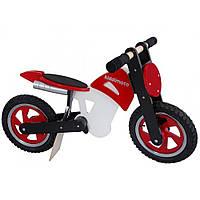 """12"""" Kiddy Moto Scrambler деревянный, красно-белый Беговел, велосипед без педалей"""