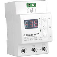 Терморегулятор для снеготаяния Terneo sn20 на DIN-рейку на 4кВт