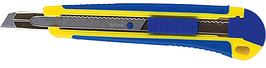 Ніж універсальний 9 мм, мет. направляюча, пласт. корпус з гум. вставками