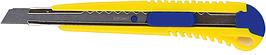 Ніж універсальний 9 мм, мет. направляюча, пласт. корпус