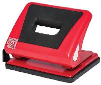Діркопробивач пластиковий з гумовою вставкою, (до 15 арк.), червоний