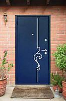 Дверь металлическая с ковкой