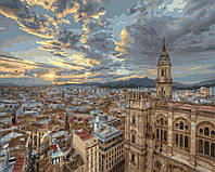 Картина по номерам BRM-G010 Рассвет над Барселоной (40 х 50 см) Brushme