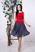 Стильное летнее платье Астория ТМ Irena Richi 42-50 размеры
