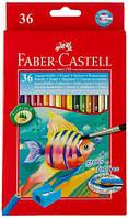 Акварельные цветные карандаши на 36 цв.картонная коробка арт.114437