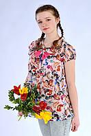 Подростковая детская блуза с бантиком 617