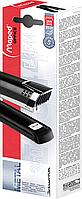 Степлер настільний ESSENTIALS METAL подовжений, металевий, 25л., (скоби №246; 266), чорний