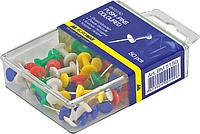 Кнопки-цвяшки, кольор., 50шт., пластиковий контейнер