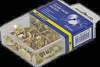 Кнопки золоті, 100 шт., пласт.контейнер