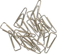 Скрiпки нікельовані 25мм, 100шт., трикутні, нікельовані