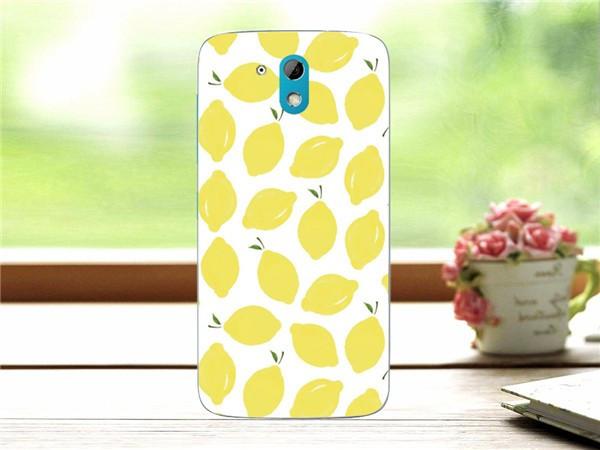 Чехол силиконовый бампер для HTC Desire 526G с картинкой лимоны