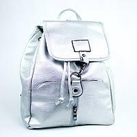 Серебряный молодежный городской рюкзак