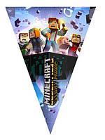 "Флажки вымпелы ""Minecraft"". Длина 2,5 метра"