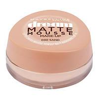 Maybelline New York Dream Matte Mousse Make-up - Матирующий тональный мусс, оттенок 030 Песок, 18 мл