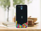 Силиконовый бампер для HTC Desire 526G с рисунком плитка шоколада, фото 2