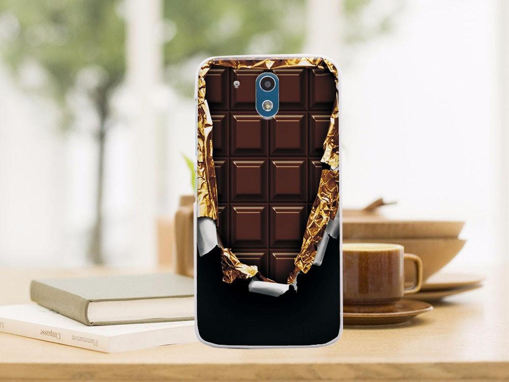 Силиконовый бампер для HTC Desire 526G с рисунком плитка шоколада
