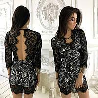 Женское гипюровое платье ViV-598