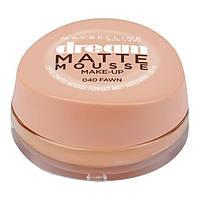 Maybelline New York Dream Matte Mousse Make-up - Матирующий тональный мусс, оттенок 040 Бежево-кремовый, 18 мл