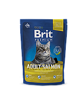 Brit Premium Adult Salmon корм для взрослых кошек с лососем, 800 г