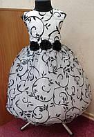 NEW! Необычное черно-белое детское платье на 4-6 лет