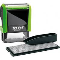 Штамп самонабірний TRODAT Printy 4911, 38*14 мм,  3 рядки,  каса: 3 мм  укр+рос,  корпус: зелений (4