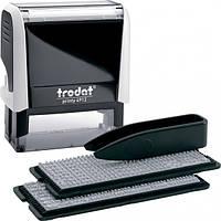 Штамп самонабірний TRODAT Printy 4912,  47*18 мм  4 рядки,  каси: 3 і 4 мм  укр+рос,  корпус: білий