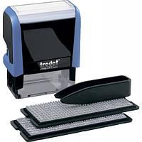 Штамп самонабірний TRODAT Printy 4912, 47*18 мм,  4 рядки,  каси: 3 і 4 мм  укр+рос,  корпус: синій