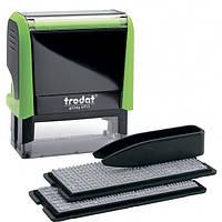 Штамп самонабірний TRODAT Printy 4913,  58*22мм,  5 рядків,  каси: 3 і 4 мм  укр+рос,  корпус: зелен