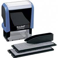 Штамп самонабірний TRODAT Printy 4913,   58*22мм,  5 рядків,  каси: 3 і 4 мм  укр+рос,  корпус: сині
