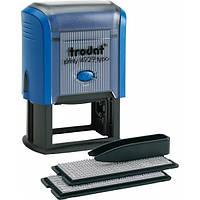 Штамп самонабірний TRODAT  4929, 50*30мм,  6 рядків,  каси: 3 і 4 мм  укр+рос,  корпус: синій (4929