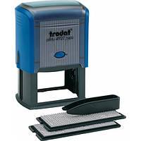 Штамп самонабірний TRODAT  4927,   60*40 мм,  8 рядків,  каси: 3 і 4 мм  укр+рос,  корпус: синій(492