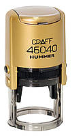 "Оснастка автомат., GRAFF 46040 HUMMER ""GLOSSY"" пласт., для печатки d 40 мм, золотиста з футляром"