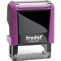 Оснащення TRODAT Printy 4911, 38х14 мм, корпус: рожевий, фіолет (4911 P4) (Австрія)