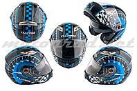 Шлем трансформер LS2 FF370 сине-черный + солнцезащитные очки